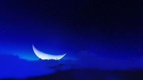 Night stars in sky and cloud with moon Stock Image