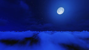 Night stars in sky and cloud with moon Stock Photo