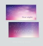 Night stars space background. vector illustration of light festi Royalty Free Stock Photo