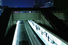 Night station Royalty Free Stock Photography