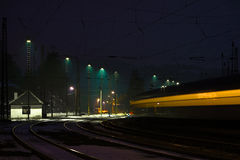 Night station Stock Image