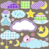 Night stickers Stock Photo