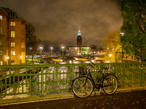 night stockholm Στοκ εικόνες με δικαίωμα ελεύθερης χρήσης