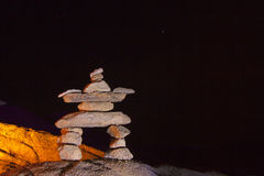 Night Stone Man Stack Stock Photos