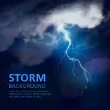Night Storm Background Royalty Free Stock Photography