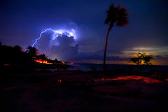 Night storm royalty free stock images