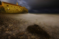 Night storm of Budva Royalty Free Stock Image