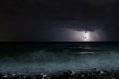 Night storm sea Royalty Free Stock Images