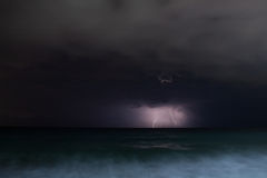 Night storm sea Royalty Free Stock Image