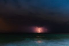 Night storm sea Royalty Free Stock Photography