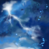 Night Storm Sky Painting Background Royalty Free Stock Photography
