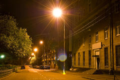 Night street. In Moscow, Russia Stock Photos