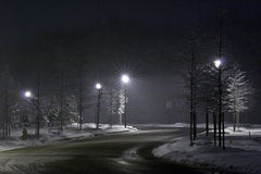 Night street. Winter time Stock Images