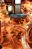 Night street. Night scene of Durban city street, South Africa from a very tall building Royalty Free Stock Photo