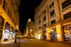 Night street of Budapest Royalty Free Stock Images