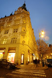 Night street in a center of Prague Stock Photo