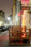 Night street in a center of Prague Royalty Free Stock Image