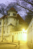 Night street in a center of Prague Stock Image