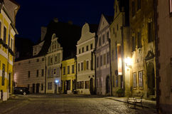 Night street in Cesky Krumlov, Czech Republic Royalty Free Stock Photography