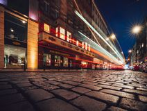 Night street in the Czech Republic stock image
