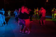 Night street dance Royalty Free Stock Photo