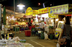 Night street food in Thailand Stock Images