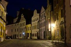 Night Street In Cesky Krumlov, Czech Republic Royalty Free Stock Photography