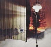 Night. Street. lamp. Royalty Free Stock Images