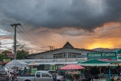 Night Street market in old town chiangmai Royalty Free Stock Image