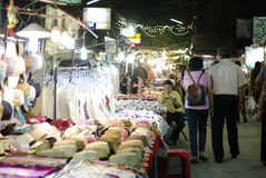 Walking street night market chiang mai thailand Stock Photo
