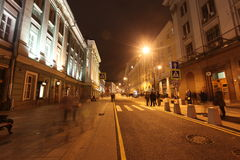 Night street in Moscow, Russia Royalty Free Stock Photography
