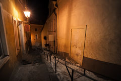 Night street in old town of Tallinn Royalty Free Stock Image
