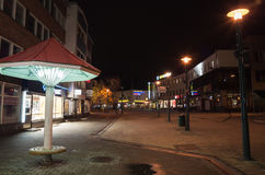 Night street photo of Finnish town Imatra Stock Image