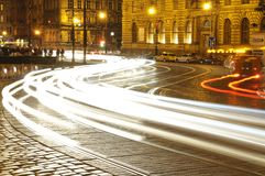 Night street in Prague Royalty Free Stock Photo