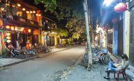 Night street scene Stock Images