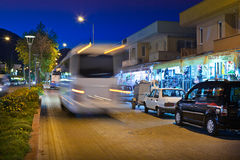 Night street scene in Kemer Stock Photo
