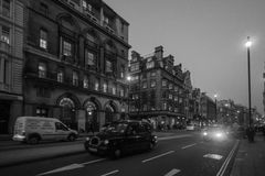 Night street scene, London Royalty Free Stock Images
