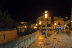 Night street, Scicli, Sicily, Italy Royalty Free Stock Image