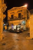 Night street, Scicli, Sicily, Italy Stock Images