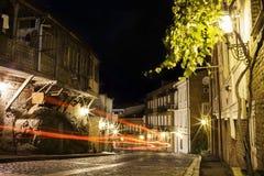 Night street in Tbilisi, Georgia Stock Image