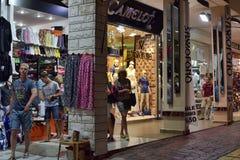 Night Street  in Turkey tourist shops. Stock Image