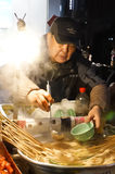 Night Street vendor Royalty Free Stock Image
