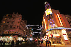 Night street view of Leicester Square Royalty Free Stock Photography