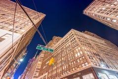 Night street view of Midtown Manhattan, New York Stock Photo