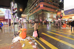 Night street view in Mong Kok Royalty Free Stock Photography