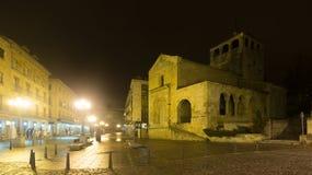 Night street view of Segovia, Spain Royalty Free Stock Photo