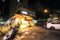 Night street view of Yuen Long, Hong Kong Stock Photo