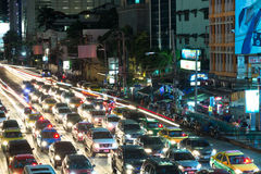 Night streets of Bangkok. Stock Photography