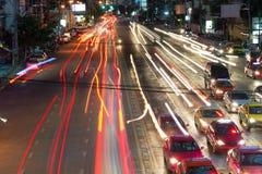 Night streets of Bangkok. Royalty Free Stock Images