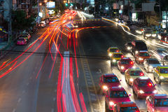 Night streets of Bangkok. Royalty Free Stock Photos